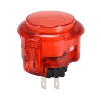 Red Snap In 30 mm Button