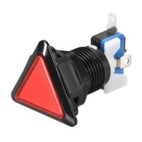 Triangular Red Arcade Button
