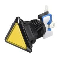 Bouton triangulaire jaune à LED