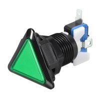 Triangular Green Arcade Button