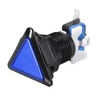 Triangular Blue Arcade Button