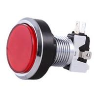 46 mm Silver Red Arcade Button