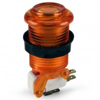 iL PSL-L Translucent Concave Long Stem Push Button - Orange
