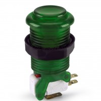 iL PSL-L Translucent Concave Long Stem Push Button - Green
