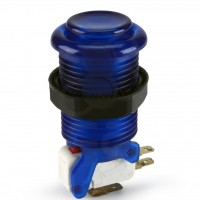 iL PSL-L Translucent Concave Long Stem Push Button - Blue