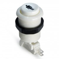 Suzo Happ Concave Pushbutton - White - Player 1