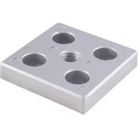Adjustable Feet's Aluminium Mounting Plates 60x60mm