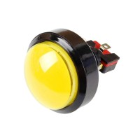 60 mm Convex Yellow Arcade Button