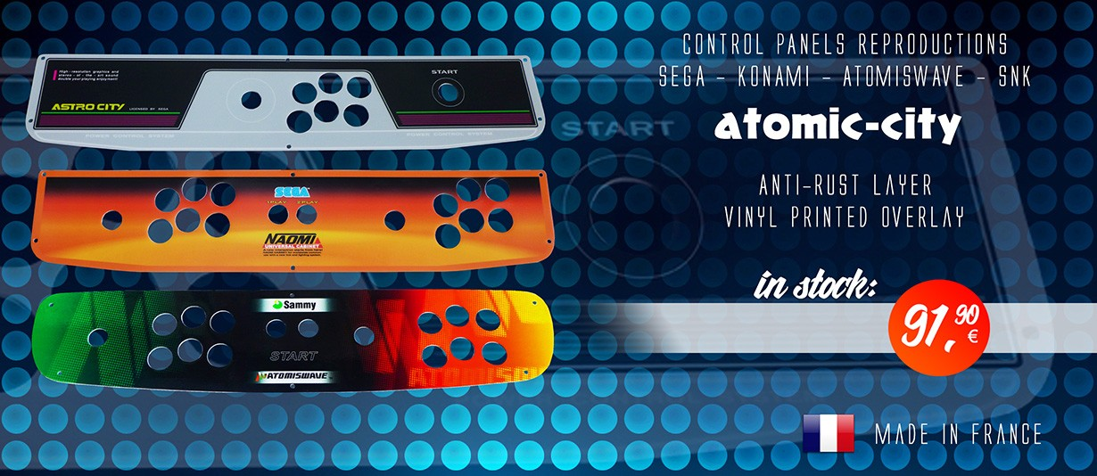 Panel Sega Taito Atomiswave Neo Geo MVS